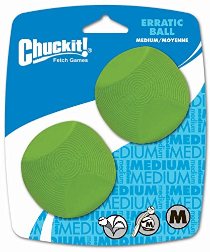 Chuckit! Medium Erratic Ball 2.5-Inch, 2-Pack