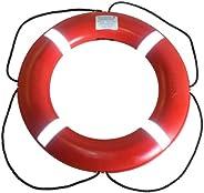 Dock Edge + Inc. USCGA Approved S.O.L.A.S. Life Ring Buoy (Orange, 30-Inch)