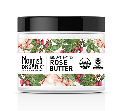 Nourish Organic Rejuvenating Body Butter, Rose Butter, Fair Trade, 5.2 Ounce