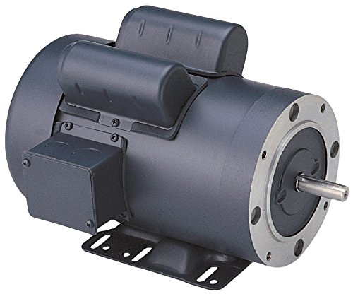 Rigid Mounting 1HP 56C Frame 115//208-230V Voltage Leeson 110908.00 General Purpose C Face Motor 60Hz Fequency 1 Phase 1800 RPM
