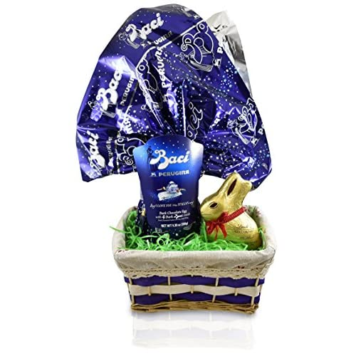 Hot sale perugina baci dark chocolate easter egg with lindt easter hot sale perugina baci dark chocolate easter egg with lindt easter bunny 7 oz easter negle