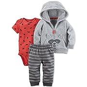 Carter's Baby Boys' 3 Piece Racoon Cardigan Little Jacket Set 6 Months