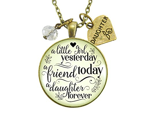 36  A Little Girl Yesterday Daughter Necklace A Friend Today A Daughter Forever Jewelry From Mom