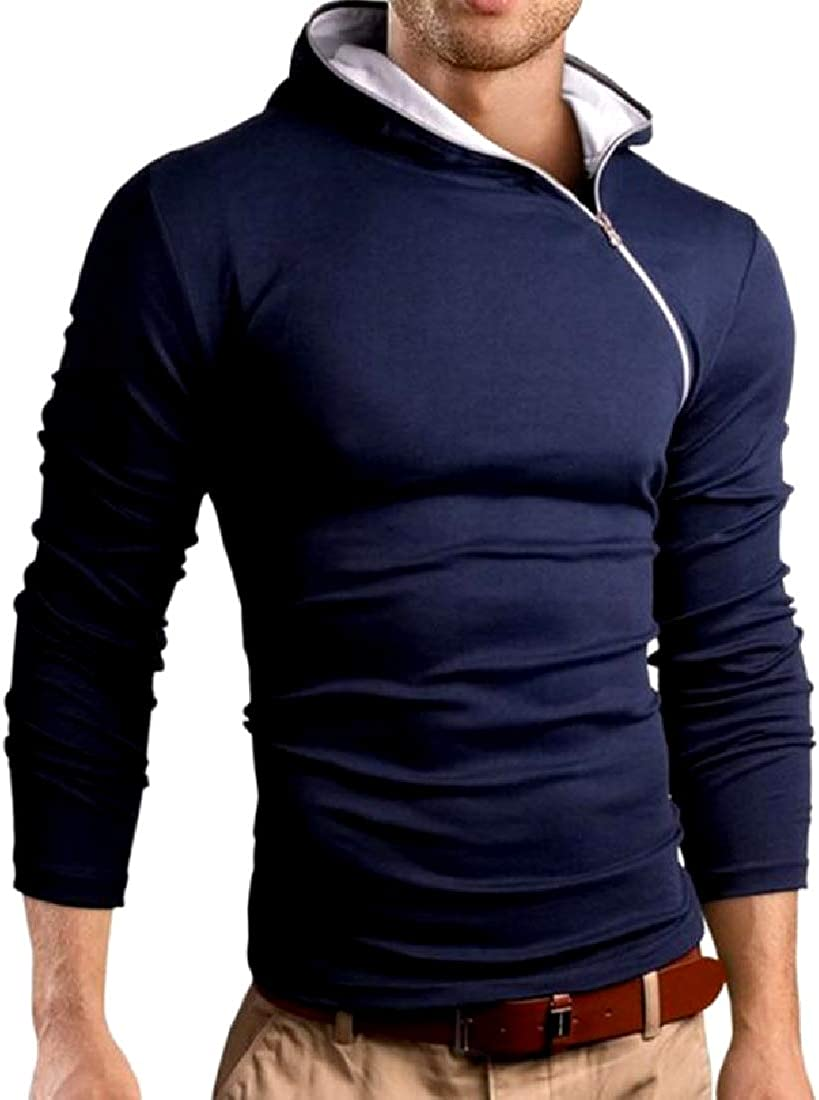 Losait Men Pure Color Breathable Everyday Slim Casual Tees Shirt