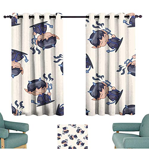 (Warm Family Exquisite Curtain Halloween Party Costume Cartoon Seamless Pattern Background Darkening and Thermal)