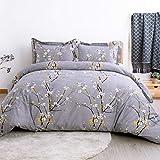 Plum Duvet Sets King Size Bedsure Duvet Cover Set King Dark Grey Plum Blossom Pattern Comforter Cover 3 Pieces(104