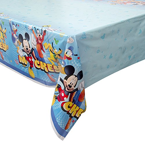 Disney Mickey Roadster Rectangular Plastic Table Cover, 54