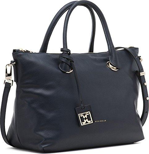 COCCINELLE, sacs à main femmes, sacs à main, sacs d'épaule, sacs bowling, accroche logo, cuir, 27 x 24 x 11 cm (H x L x P)