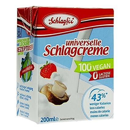 Schlagfix Schlagcreme Sahne Ungesuesst 200ml 100 Vegan Glutenfrei