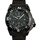Military Royale Black Swiss Design Men's Stainless Steel Military GMT Army Time Display Watch MR093