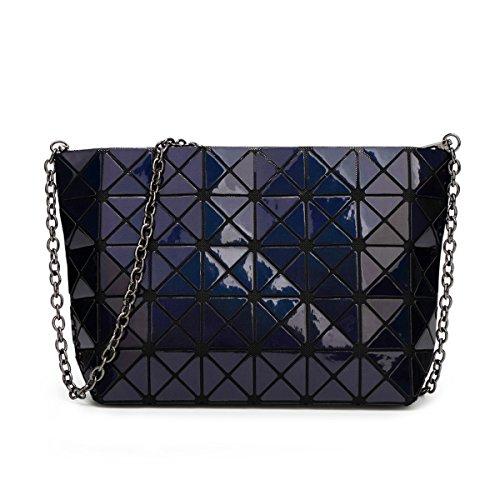 de chaîne réseau en mesdames géométrique main sacs Royal des à partager Hologram écossais sacs Blue cuir les sacs l'épaule pour à diamant jaune flada croix commun w1XqRF6R