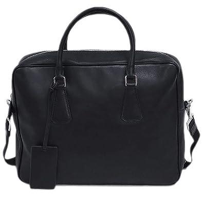 18823b54b2b2 【アウトレット品】 (プラダ) PRADA バッグ 2VE305 メンズ ブリーフケース ビジネス ストラップ付き