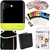 Polaroid POP Instant Camera (Yellow) Gift Bundle + + ZINK Paper (20 Sheets) + Pouch + 100 Sticker Border Frames + Hanging Frames + Album