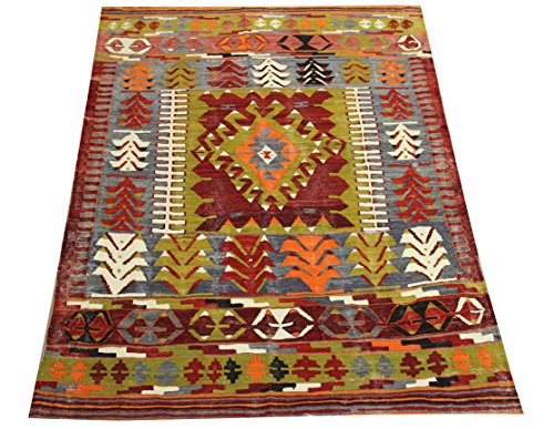Oriental Small Kilim rug 5,1x3,9 feet Area rug Old rug Nomadic Kilim Rug Throw kilim rug Floor Kilim Rug Turkish Rugs Room Decor