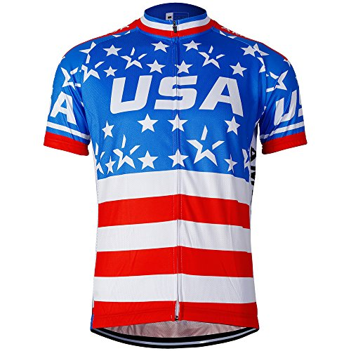 (Men cycling clothes short sleeve bike clothes (Large, Jersey Star Only))