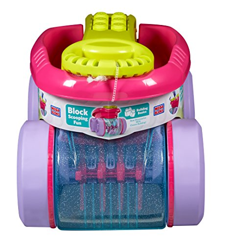Mega Bloks Block Scooping Wagon Building Set Pink (Empire Set Builder)