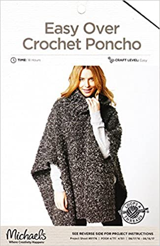Loops Threads Crochet Pattern Ladys Easy Over Crochet Poncho One