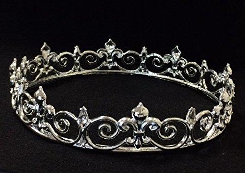 Diamond Silver Crown Prom King Queen Fleur De