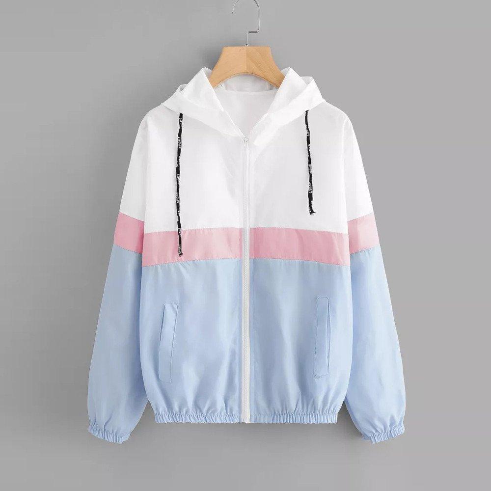 Zarupeng Damen Langarm Dünne Sweatshirt mit Kapuze