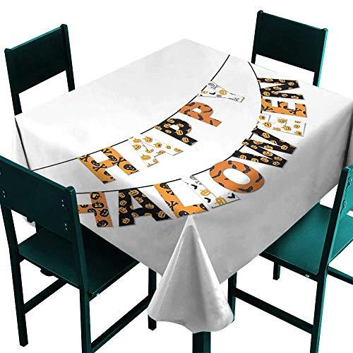 ScottDecor Halloween Tablecloth Birthday Happy Halloween Banner Greetings