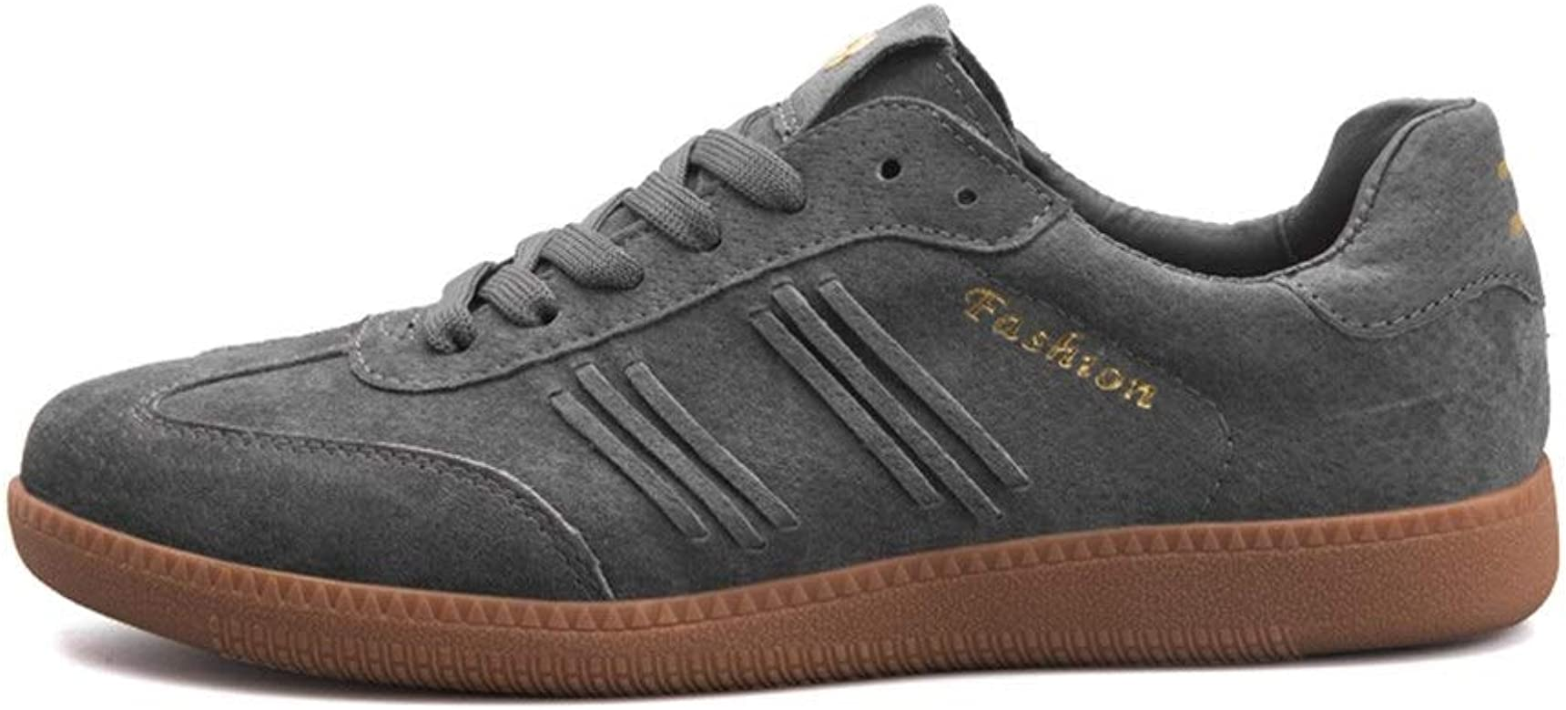 Men/'s Casual Leather Athletic Shoes Lace Up Sneakers Outdoor Sports Comfy Flats