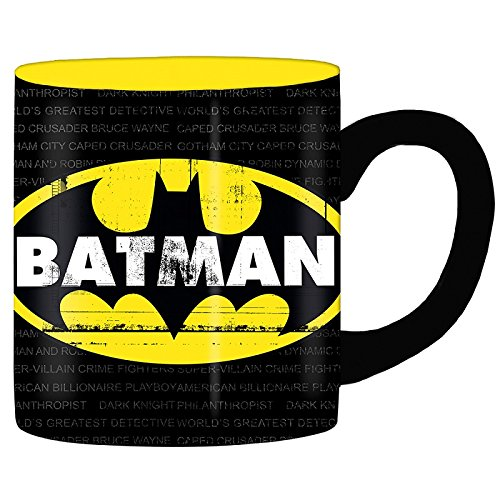 Silver Buffalo BN112934 DC Comics Batman Grimey Logo Jumbo Ceramic Mug, 20-Ounces (Mug Ceramic Jumbo)