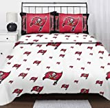 NFL Tampa Bay Buccaneers Logo Football Twin Bed Sheet Set
