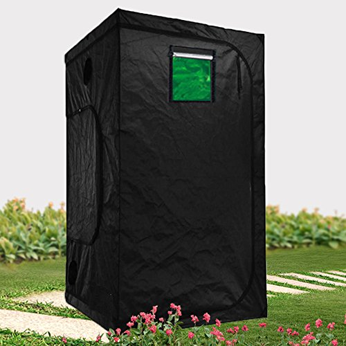 48''x24''X60'' 48''x24''x72'' 48''x36''x72'' 48''X48''X78'' 60''x60''x78'' Hydro High Reflective Indoor Grow Tent Room w/Observation Window and Metal Corner (48''X48''X78'') by Hongruilite