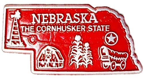 (Nebraska State Map Fridge Magnet)