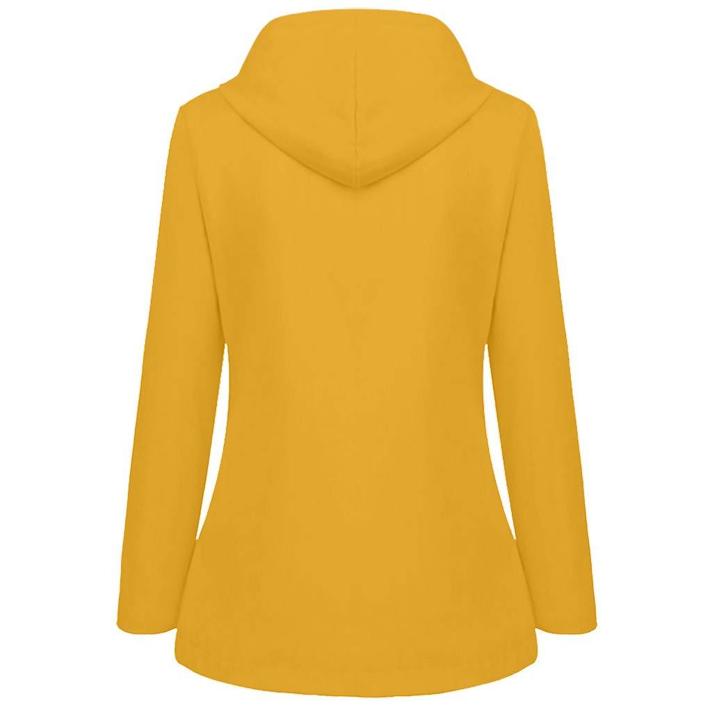 KUDICO Raincoat Rain Jacket Womens Casual Outdoor Long Sleeve Zipper Hooded Waterproof Windproof Outerwear Windbreaker Trench