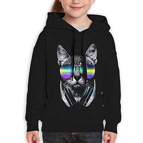 FDFAF Teenager Youth DJ Cat Sunglasses Hiking Vintage Hoodie Sweatshirt S - Odd Future Sunglasses