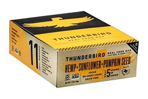 Thunderbird Gluten Free Non-GMO Vegan Hemp Sunflower Pumpkin Seed Bars, 1.7 Oz. - Pack of 15