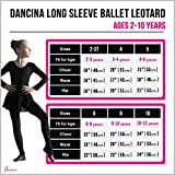 Dancina Leotard Classic Long Sleeve Girls Barre