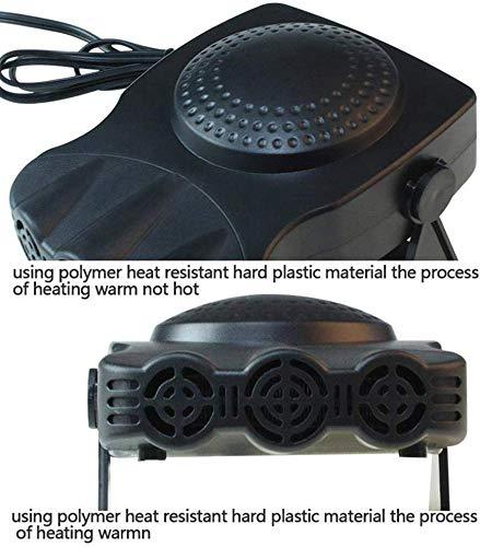 12V 150 W Riscaldamento rapido Sbrinamento rapido Defogger Demister Ventola di raffreddamento del veicolo LANSONTECH Riscaldatore per auto Rosso