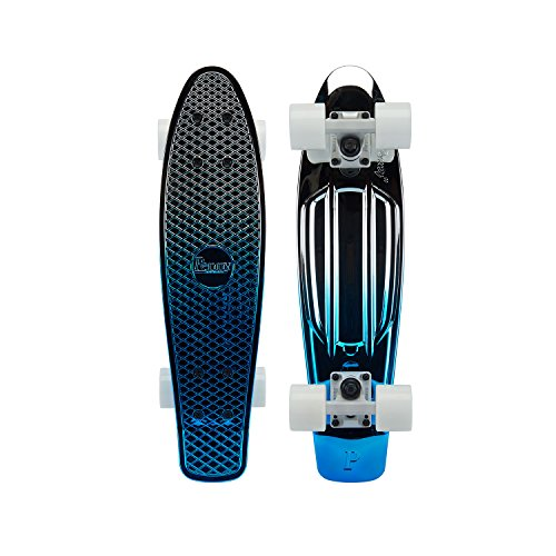 Penny Metallic Graphic Skateboard - Blue Silver 22'' by Penny Australia