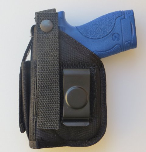 Holster for S&W M&P 22 Compact with Underbarrel Laser Mounted on Gun