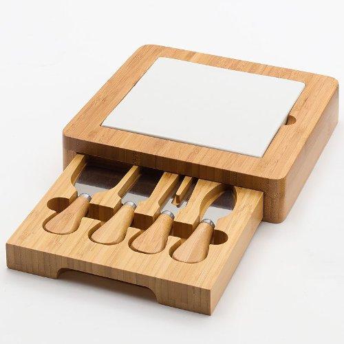 Food Network Bamboo Cheese Board Set