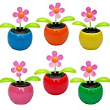 Purewill Solar Dancing Toy Arrival Plastic Crafts Home Car Flowerpot Solar Power Flip Flap Flower Plant Swing Auto Dance Toy