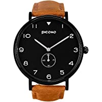 [Patrocinado] picono Spy S Series–Multi Dial reloj de cuarzo analógico resistente al agua–no. ys-7201Negro