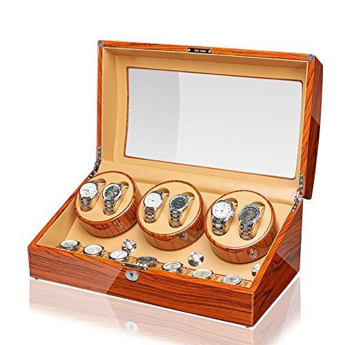 JQUEEN Automatic Watch Winder Luxury Storage Case 6+7