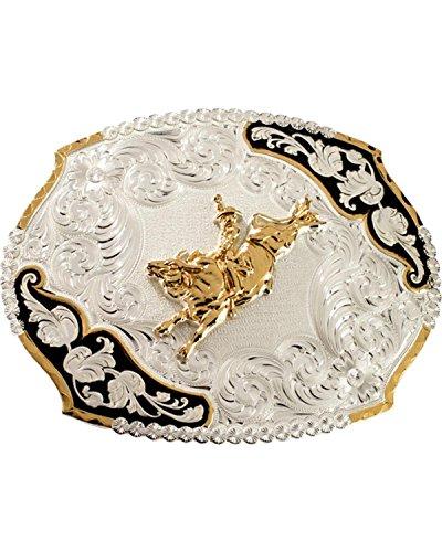Montana Silversmiths Men's Bucking Bronco Belt Buckle Silver One Size