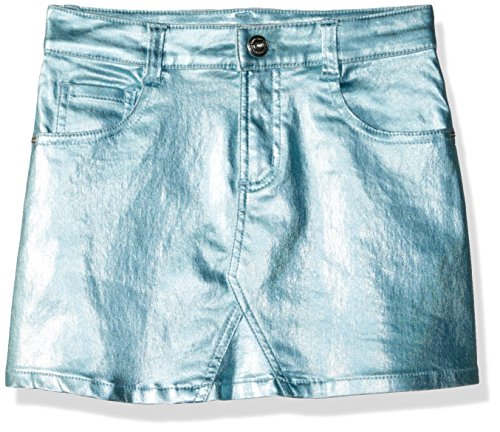 Crazy 8 Little Girls' 5-Pocket Metallic Skirt, Light Blue, 5 (Cotton Metallic Skirt)
