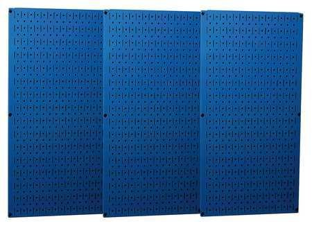Wall Control Industrial Metal Pegboard - Blue, Three 16in. x 32in. Panels, Model# 35-P-3248BU by Wall Control