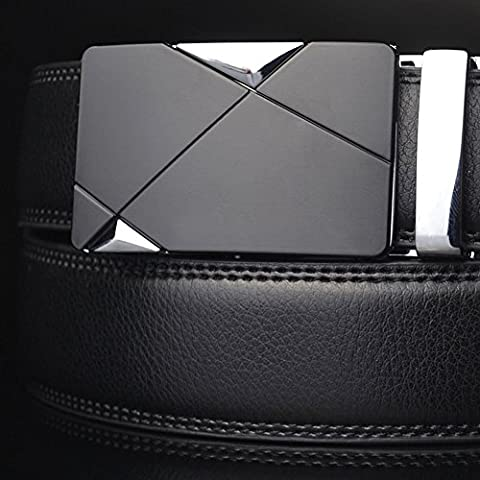 Luxury Men's Genuine Leather Automatic Buckle Belts Waist Strap Belt Waistband, 100% Brand new and high (Allen Edmonds Belt 50)