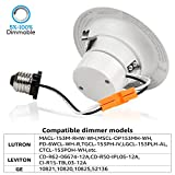 TORCHSTAR 4-Pack 4 Inch LED Downlight with Baffle