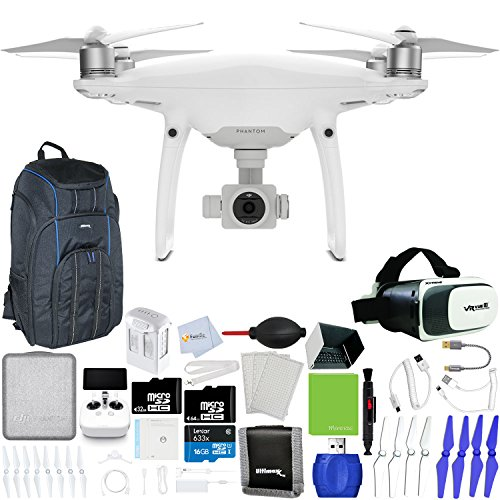DJI-Phantom-4-Pro-Quadcopter-Xtreme-VR-Vue-II-For-iPhoneAndroid-Screen-Size-35-6-Backpack-Pro-II-Sunshade-Hood-Sunshade-Hood-for-Remote-Controller-Lens-Cleaning-Pen-More