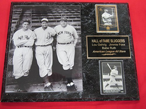Babe Ruth Lou Gehrig Jimmie Foxx 2 Card Collector Plaque ...