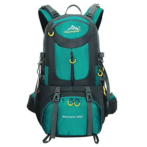 Waterproof Nylon Travel Mountaineering Leisure Hiking Bag Green - 9
