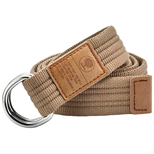 Samtree Canvas Belts D Ring Buckle,Adjustable Solid Color Military Style Web (Canvas Cotton Belt)