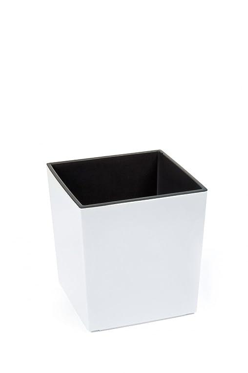 Pflanzkübel Juka aus Kunststoff Hochglanz, Farbe:Weiß, Größe:25 x ...